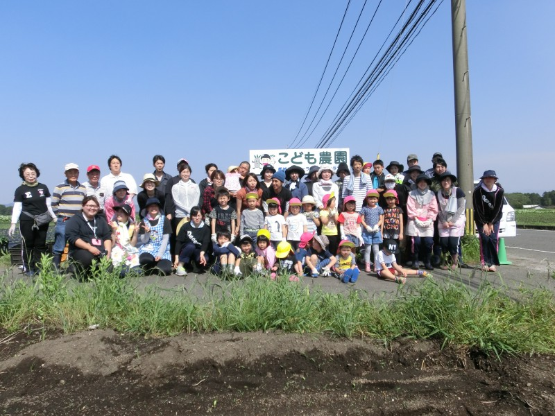 都城シテイー 5・14 さくらんぼ子供園サツマイモの苗植え付け